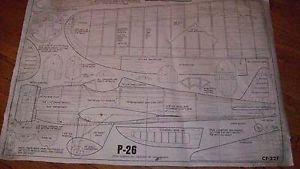 Full Size Plans for Three 3 Fantastic Control Line Model Airplanes not Kits