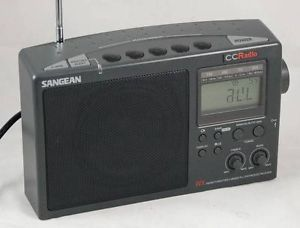 Sangean Ccradio WX FM Am TV Weather PLL Synthesized 4 Band Portable Radio