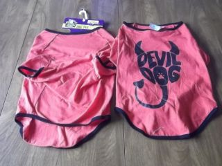 Old Navy Dog Supply Co Size Large Red Devil Dog T Shirt New