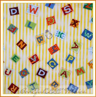 BonEful Fabric FQ Rainbow Bright Yellow Dot Ball Puppy Dog Play Star Toy Cotton