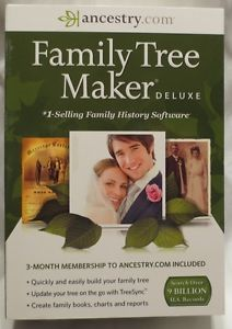 Family Tree Maker Deluxe 2014 Includes 3 Month Ancestry com Access Brand New