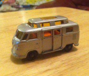 Vintage Lesney Matchbox Volkswagen camper Elevated Roof No 34 England Toy Car