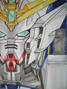 Gundam Wing Zero Original Anime Color Pin Up Art