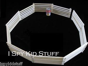 18 ft Long Total 2 Wooden Wood Toy Horse Farm Foldable Fences for Tall Horses