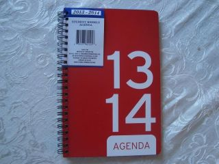 Red 2013 2014 Weekly Student Agenda Planner Daily Appointment Book School