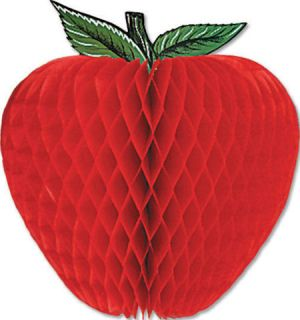 """14"""" 3D Honeycomb Tissue Apple Fruit Themed Party Decoration"""