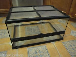 Exo Terra Glass Terrarium Cage Lizard Medium Low Bearded Dragon Snakes Reptile