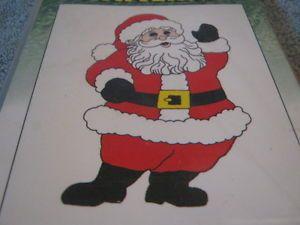 Vintage Yard Art Christmas Pattern Mr Santa Claus Waving Plywood Plans Kit