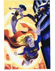 Supergirl Wonder Woman Batgirl Print on High Gloss Paper Steve Rude Art