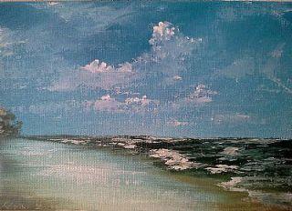 Vanlandingham Original Daily Fine Art Oil Painting Ocean Beach EBSQ Sea