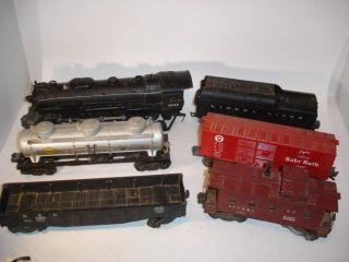 1950's Hudson Lionel O Scale Train Set 2046 Engine w 2046W Tender 3 Cars Kaboose