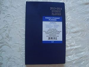 Blue 2013 2014 Weekly 18 Month Student Planner Daily Appointment Book School