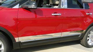 "11 13 Ford Explorer Rocker Panel Trim Body Side Moulding 4"" Wide 6pc"