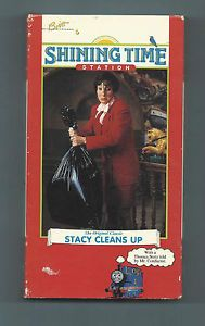 "RARE Shining Time Station Thomas Tank Engine VHS Tape ""Stacy Cleans Up"" 1993"