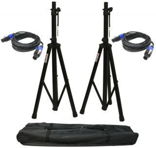 Pro Audio DJ Universal PA Speaker Adjustable Tripod Pole Stands Nylon Bag New