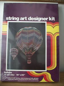 1983 Open Door Enterprises Balloon String Art Designer Kit Factory SEALED