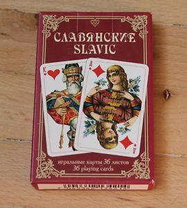 New 36 Playing Cards Deck Red Slavic Russian Art Folk Paper Joker Good Gift