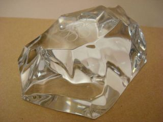 Vintage Elegant Collectable Val St Lambert Signed Crystal Art Deco Paper Weight
