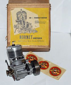 Vintage 60 RC Hornet Motor Ignition 60 Model Engine New w Box Papers Decals