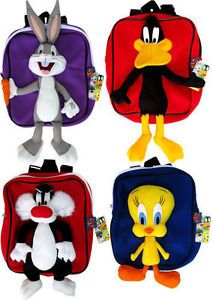 Looney Tunes Bugs Bunny Tweety Pie Sylvester Daffy Duck School Bags Backpacks