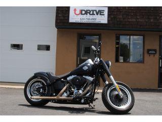 Fat Boy Lo Low Harley Davidson Softail Heartland USA Custom Exhaust Lowered