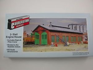 Walthers CornerStone HO Scale 2 Stall Engine House Kit 933 3007