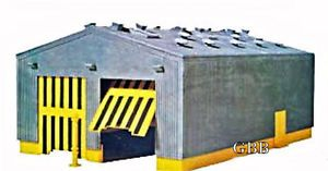 HO Scale Train Twin Locomotive Shed Kit Model Power New in SEALED Box 611