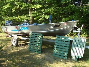 14 ft Lowe Sea Nymph V Boat 8 Horse Outboard Trailer Cover Trolling Motor
