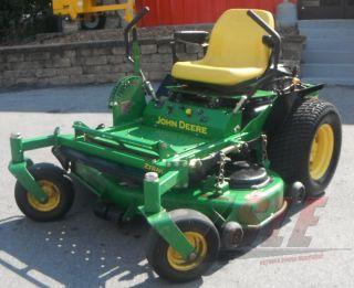 "Used 48"" John Deere 717 Lawn Mower 19 HP Kawasaki Engine Zero Turn"