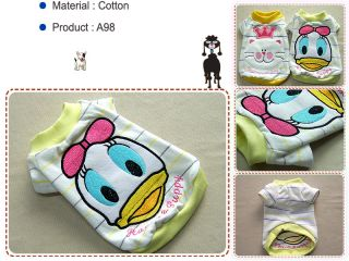 Small Dog Pet Clothing Daisy Duck Round T Shirts A98 On Popscreen