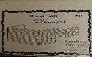 "Guts Gravel Glory HO Scale Kit s 188 ""Log Cribbing Walls"" 5 Sections"