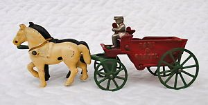Cast Iron Horse Drawn Toys
