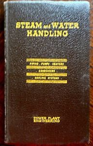 1937 Power Plant Engineering Steam and Water Handling Pump Heaters Book Old