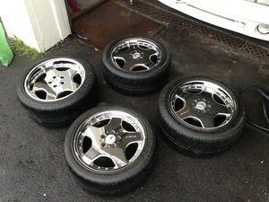 "Mercedes Benz Chrome AMG Wheels Rims Michelin Tires 18"" BBs R$6000 Pickup"