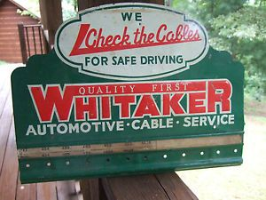 Vintage Whitaker Automotive Battery Cables Display Rack Sign