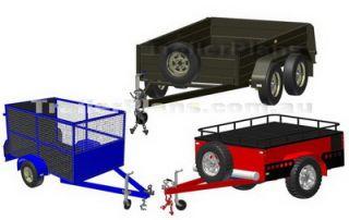 DIY Off Road camper Tandem Box Cage Trailer Plans