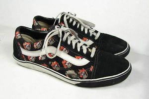 Old School Vans Hot Wheels Fire Flame Hot Rod Shoes Size 13
