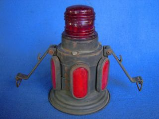 Vintage WWII US Army Military Truck Warning Light OD 604 Road Flare Lantern Jeep