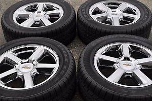 "20"" Chevrolet Tahoe Silverado 1500 Truck Chrome Wheels Rims Tires 5308"