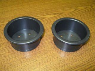 Black Universal Plastic Cup Holders Van RV Truck Car Hot Rod
