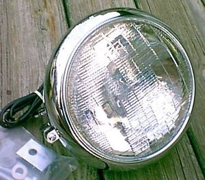 Chrome 7 in Fatboy Heritage Headlight Assembly with Mount Block Harley Davidson