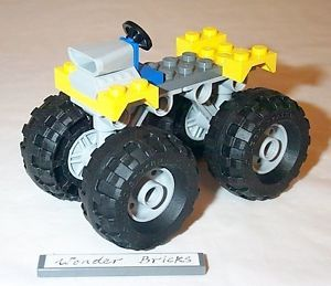 Lego Balloon Tire Wheel Monster Truck Chassis 8182 7893 Airplane Landing Gear