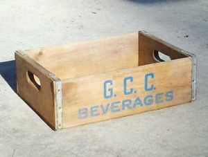 Vintage Wood Soda Bottle Crate G C C Beverages Atlanta GA