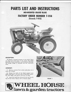 Wheel Horse Attachments on PopScreen