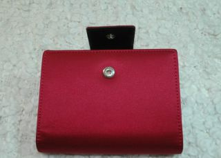 Kate Spade Elyce Satin Leather Pocket Organizer Day Planner Red or Pink $155