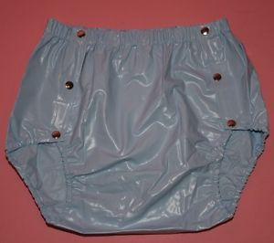 Adult Baby Plastic Snap on Popper Pants PVC Incontinence