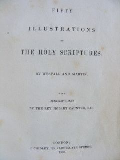 Fifty Engravings of Holy Scriptures by John Martin Richard Westall 1839 1st