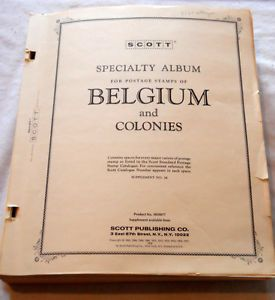 Scott 2 Post Illustrated Belgium Stamp Album Pages 1849 1981