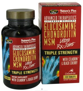Nature's Plus Triple Strength Ultra RX Joint Glucosamine Chondroitin MSM Wi