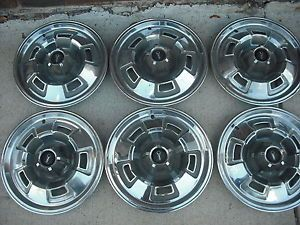 "6 14"" 1966 1967 1968 1969 Plymouth Valiant Barracuda Hubcaps Wheel Covers"